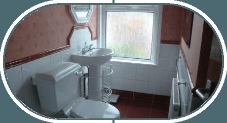 WC and washbasin