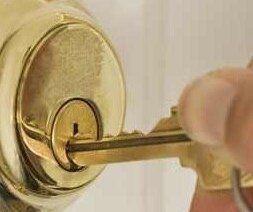 Golden key lock and doorknob by locksmith open 24 hour at Runaway Bay