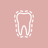 tooth with dotted outline icon