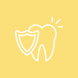shiny tooth with shield icon