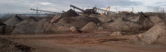 Sand and gravel used for contract service in Rochester