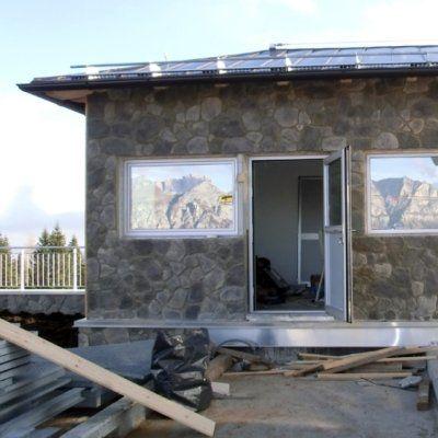 costruzione baita in montagna