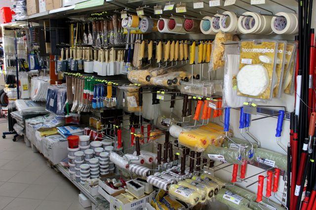 articoli per bricolage, pittura, giardinaggio