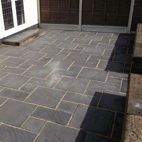 Yorkstone paving work