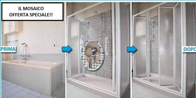 Bagno Con Doccia Mosaico : Bagni a pacchetto nerviano mi il mosaico