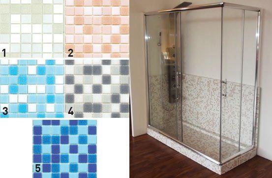 Bagni a pacchetto nerviano mi il mosaico - Piatto doccia mosaico ...