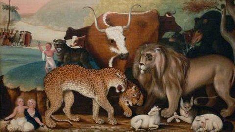un quadro con animali di vario genere