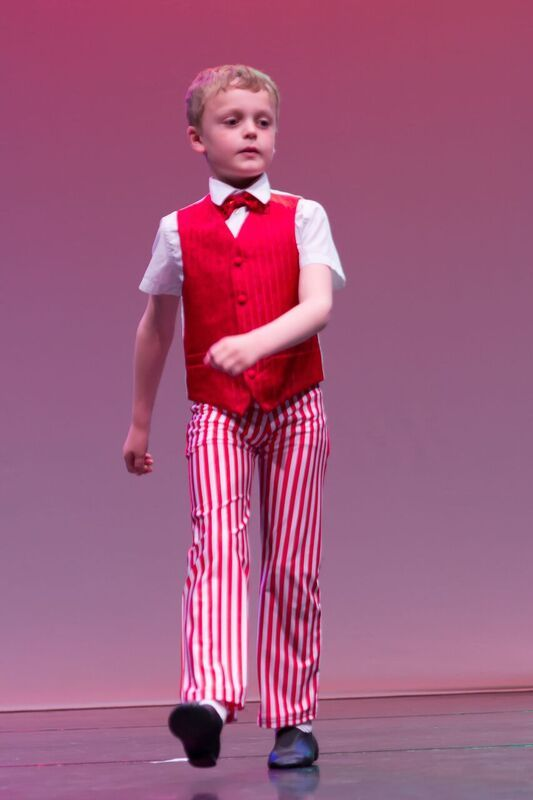 a boy learning tap dancing