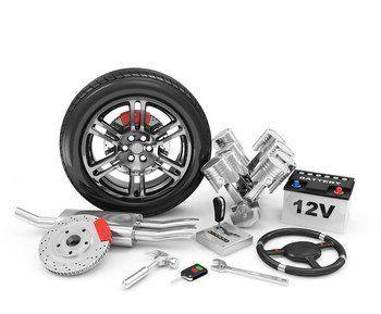 Collection of car parts