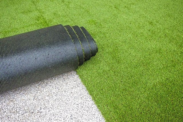 a roll of artificial turf