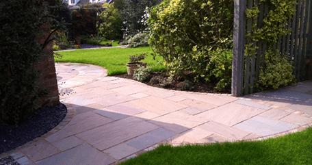 paved garden path