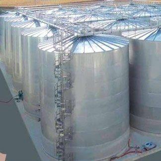 Serbatoi enologici da 7200 hl in acciaio inox