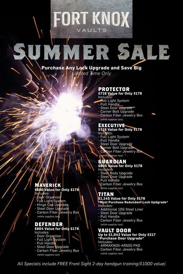 Summer Sale Fort Knox Vaults | Safes R Us