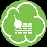 nuvoletta verde con il disegno di una palla da demolizione