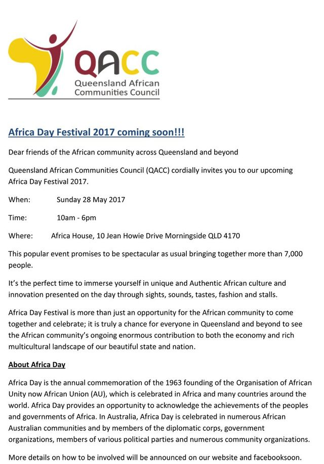 Queensland African communities Council Description