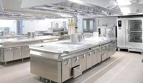 View of a commercial kitchen after service