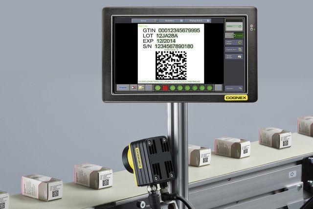 uno schermo con codice per i supermercati