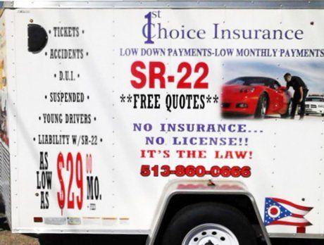 SR-22 insurance in Fairfield OH