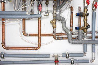 Various plumbing pipes