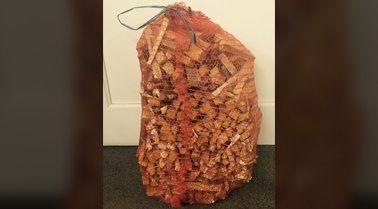 A bag of kindling for log fires