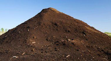 A large pile of topsoil