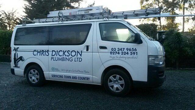 Chris Dickson Plumbing vehicle