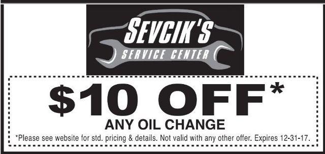 Oil Change Coupon College Station, TX | Sevcik's Service Center