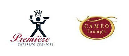 premiere catering services and cameo lounge logo