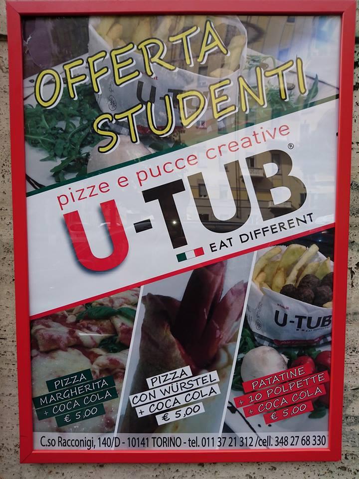 volantino offerta studenti u-tub