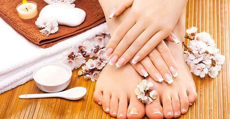 Pedicure and varnish