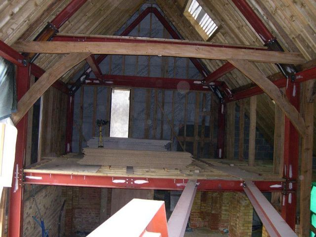 barn conversion in progress