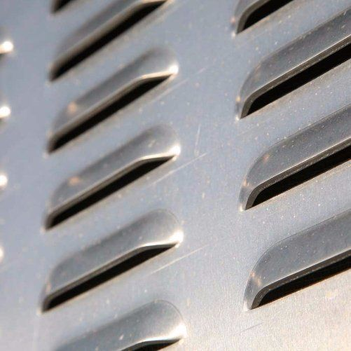 close up of AC grill