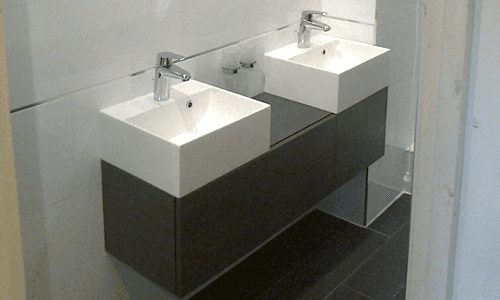 Wash basin installation