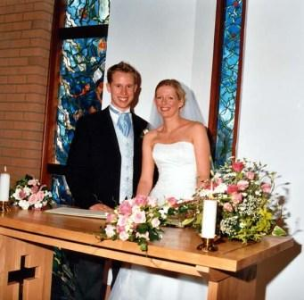 Helen and Richard married at St Mark's
