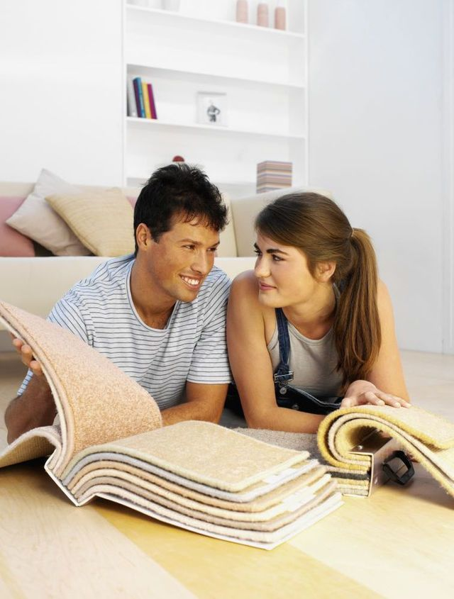 Choose from carpets and drapes like this couple in Gore