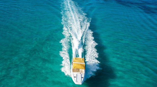 Charter Boat shot from a drone
