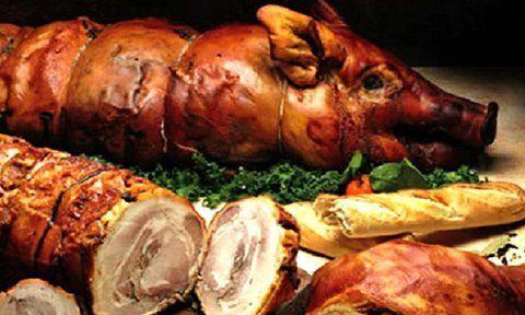 porchetta e altri tipi di carne