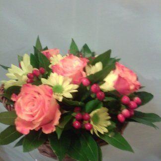 cesto di orchidea rosa.fiorista .quartiere monteverde,trastevere, gianicolo,prati,San Pietro e Vaticano,gianicolense,