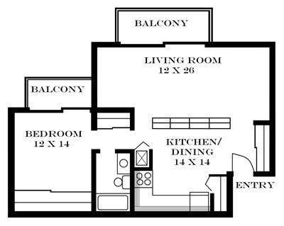 Meadowbrook in Lawrence Kansas 1bedrooms