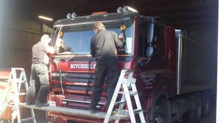 windscreen repair team at work in Christchurch