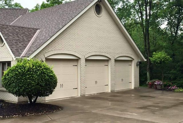 Professional servicing garage door in Middletown, OH