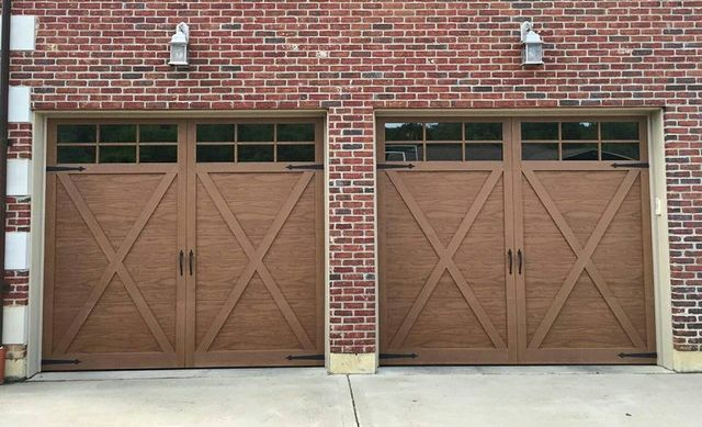 Car entering the garage after new door installation in Middletown, OH