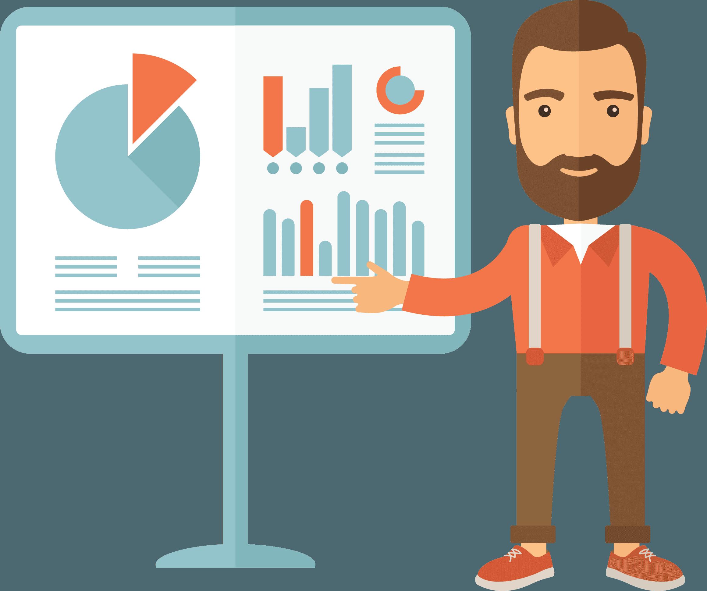 Man showing Mosspaper analytics