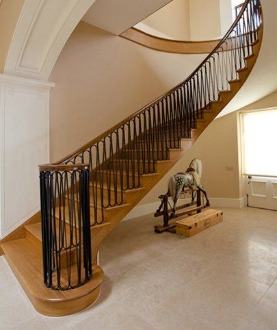Wooden staircase made by AR Manley