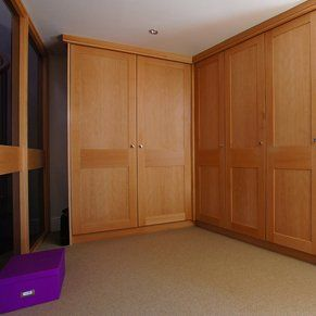 Large wooden fitted bedroom furniture