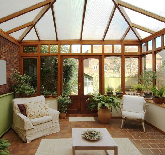 Inside of a conservatory by AR Manley