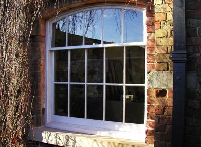 Large white wooden window
