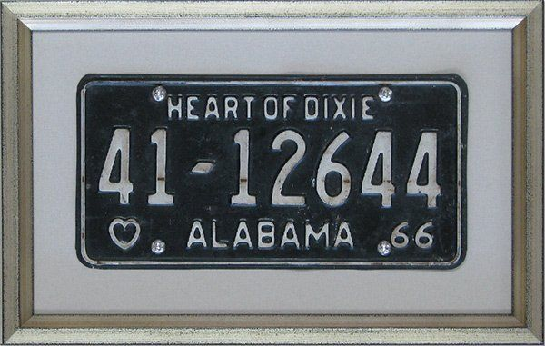 hall of frame rectangular emma framed number plate