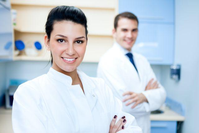 A happy dental team, ready to serve