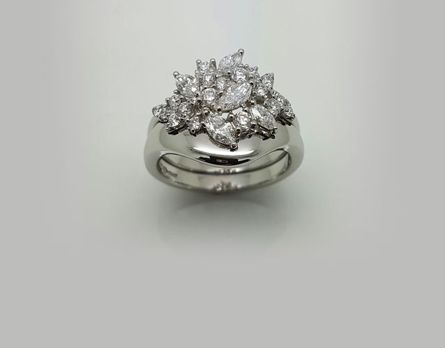 A completed wedding ring